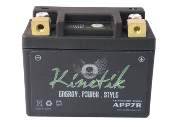 12N7D-3B Kinetik Phantom LiFePO4 Battery Front | Battery Specialist Canada