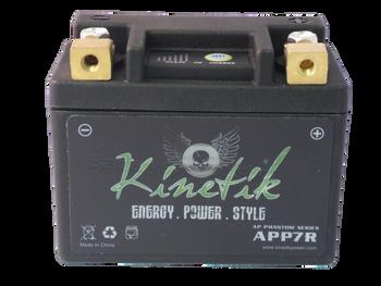 YB7L-B Kinetik Phantom LiFePO4 Battery Front | Battery Specialist Canada