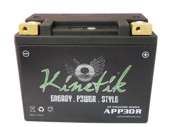 YTX20L-BS - Kinetik Phantom LiFePO4 Battery Side | Battery Specialist Canada