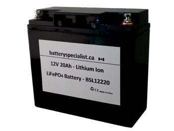 Golf Caddy Lithium Ion Battery - 12V 20Ah - With Protective Circuit Board - BSL12220 | batteryspecialist.ca