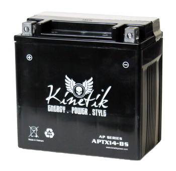 14BS Power Sport Dry Charge AGM Battery - 12 Volts 12 Amp Hrs | Battery Specialist Canada