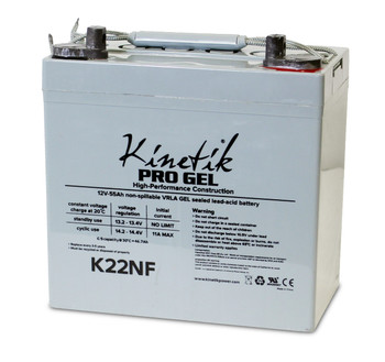 12 Volts 55Ah Kinetik Pro Gel Battery - Terminal Z1 - Group 22NK - K22NF | Battery Specialist Canada