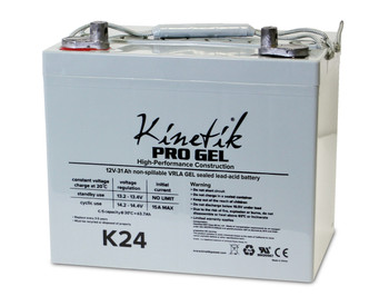 K24 - 12 Volts 75Ah Kinetik Pro Gel Battery - Terminal Z1 - Group 24 | Battery Specialist Canada