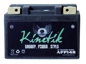 YTX14AHL-BS - Kinetik Phantom LiFePO4 Battery | Battery Specialist Canada