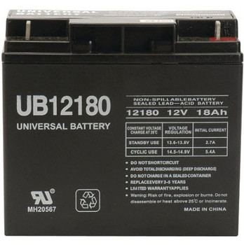 Dual Lite 012-896 12V 18Ah Emergency Light Battery Front View   Battery Specialist Canada