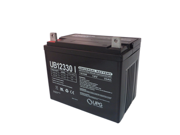 UB12330 - 12V 33Ah Sealed Lead Acid Battery Angle View | Battery Specialist Canada