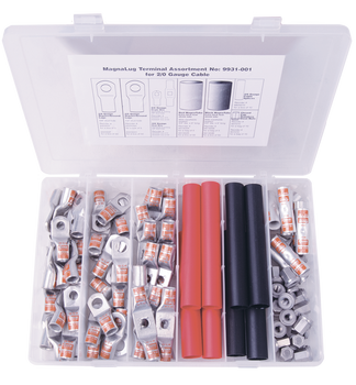 2/0 Gauge MagnaLug® Copper Tube Lug Kits - Image for illustration purposes only | Battery Specialist Canada