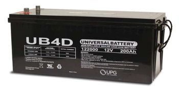 12 Volts 200Ah -Terminal Auto Post - SLA/AGM Battery - UB-4D AGM | Battery Specialist Canada