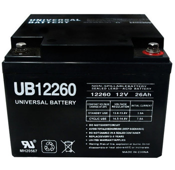 UB12260 - 12 Volts 26Ah - Terminal Internal Threads - SLA/AGM Battery - 40598 | Battery Specialist Canada