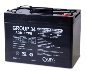 UB12600 - 12 Volts 60Ah - Terminal I6 - AGM Battery - Group 34 | Battery Specialist Canada