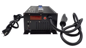 48 Volt 15 Amp Golf Cart Battery Charger with RXV Plug front view | Battery Specialist Canada
