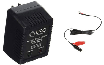 UPG D1730 Sealed Lead Acid Battery Charger with Alligator Clips | Battery Specialist Canada
