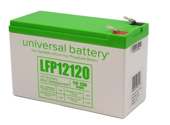LFP12120 - 12.8V 12Ah LiFePO4 Lithium Battery Angle | batteryspecialist.ca