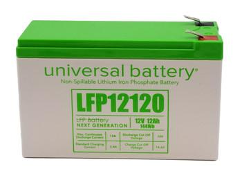 LFP12120 - 12.8V 12Ah LiFePO4 Lithium Battery Front | batteryspecialist.ca
