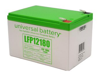 LFP12180 - 12.8V 18Ah LiFePO4 Lithium Battery Angle | batteryspecialist.ca