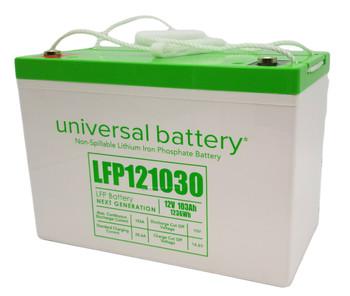 LFP121030 - 12.8V 103Ah LiFePO4 Lithium Battery Angle | batteryspecialist.ca