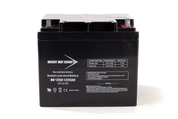 BW12500 - 12 Volts 50Ah -Terminal L2 - SLA/AGM Battery - Front | Battery Specialist Canada