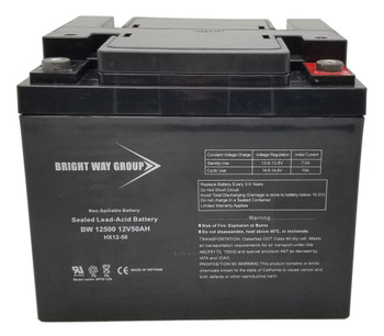 BW12500 - 12 Volts 50Ah -Terminal IT - SLA/AGM Battery - Front | Battery Specialist Canada