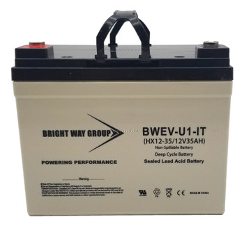 BWEV-U1-IT - 12 Volts 35Ah -Terminal I2 - SLA/AGM Deep Cycle Battery | Battery Specialist Canada