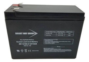 BW12100-S - 12 Volts 10Ah -Terminal F2 -SLA/AGM Battery  | Battery Specialist Canada