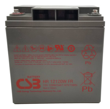 HR12120WFR - CSB Battery - 12V 120 Watts Per Cell - 30Ah Front | Battery Specialist Canada