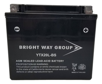 YTX20L-BS Power Sport Maintenance Free AGM Battery  | Battery Specialist Canada