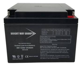 BW12260 - 12 Volts 26Ah - SLA/AGM Battery - HX12-26 | Battery Specialist Canada