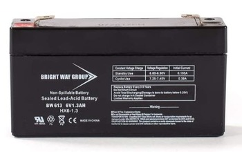 BW613 - 6 Volts 1.3Ah -Terminal F1 - SLA/AGM Battery  | Battery Specialist Canada