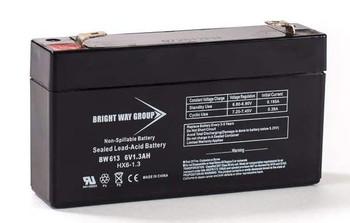 BW613 - 6 Volts 1.3Ah -Terminal F1 - SLA/AGM Battery - HX6-1.3 | Battery Specialist Canada