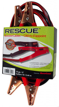 Booster Cable - 10 Guage - 8' Long - 150 Amps Alligator Clamps   Battery Specialist Canada