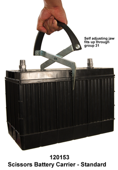 Scissors Battery Carrier- Standard - Self Adjusting Up To Group 31 - 120153 | Battery Specialist Canada