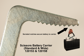 Scissors Battery Carrier- Wide - Self Adjusting Up To Group 31 - 120158