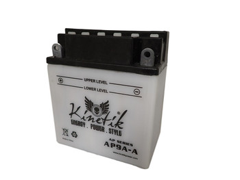 Power Sport Conventional (YB9A-A) 12-Volts 9-Amp Hrs - Angle | Battery Specialist Canada