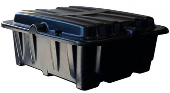 Group 8D Dual Battery Box - Side By Side - Black | Battery Specialist Canada