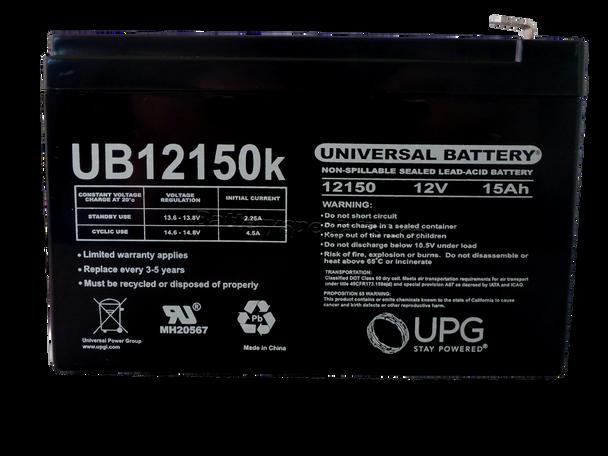 UB12150 - 12V 15Ah - SLA Battery Front | Battery Specialist Canada