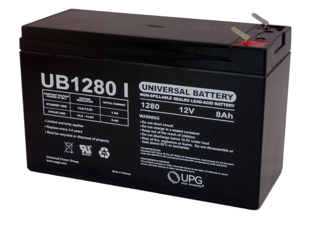UPG 12V 8AH Replacement for  F2 iZip i-200 Scooter SLA Battery WITH CHARGER