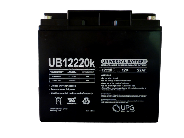 12 Volts 22Ah -Terminal Internal Thread - UB12220 | Battery Specialist Canada