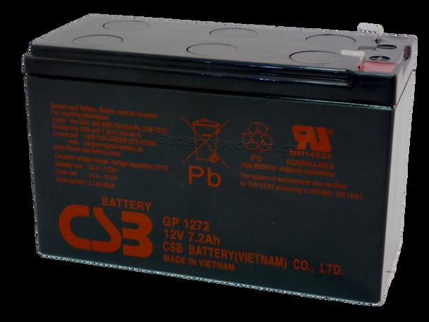 GP1272 - CBS Battery - Terminal F1 - 12 Volt 7.2Ah | Battery Specialist Canada