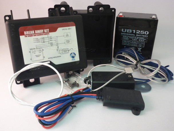 Trailer Breakaway Kit With Charger - Switch - Battery | Battery Specialist Canada