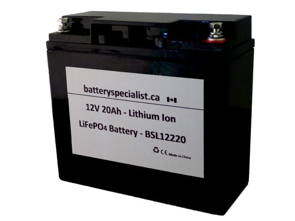 Lithium Ion Battery - 12V 20Ah - With Protective Circuit Board - BSL12220   Battery Specialist Canada