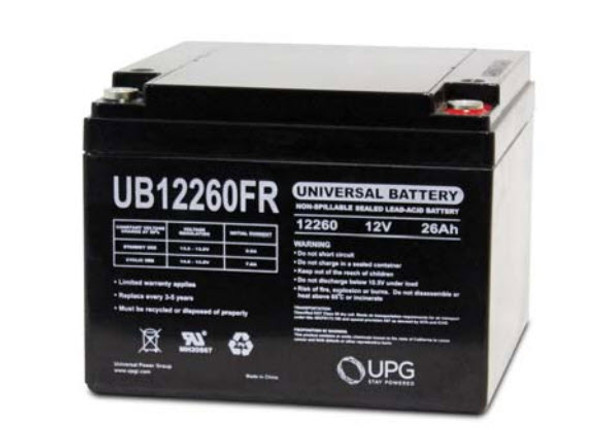 UB12260FR - 12 Volts 26Ah - Terminal Internal Threads - SLA/AGM Battery | Battery Specialist Canada