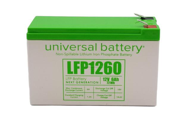 LFP1260 - 12.8V 6Ah LiFePO4 Lithium Battery   batteryspecialist.ca