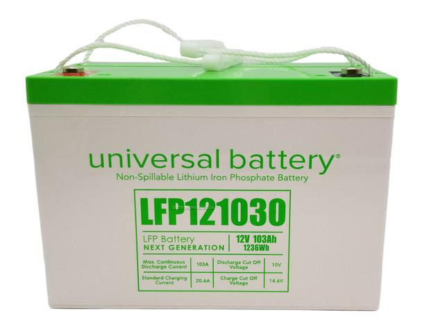 LFP121030 - 12.8V 103Ah LiFePO4 Lithium Battery Front   batteryspecialist.ca
