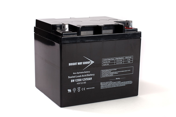 BW12500 - 12 Volts 50Ah -Terminal L2 - SLA/AGM Battery | Battery Specialist Canada