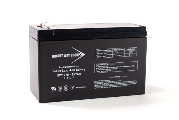 BW1270 - 12 Volts 7Ah -Terminal F1 - SLA/AGM Battery | Battery Specialist Canada