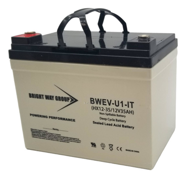 BWEV-U1-IT - 12 Volts 35Ah -Terminal I2 - SLA/AGM Deep Cycle Battery - Group U1 | Battery Specialist Canada