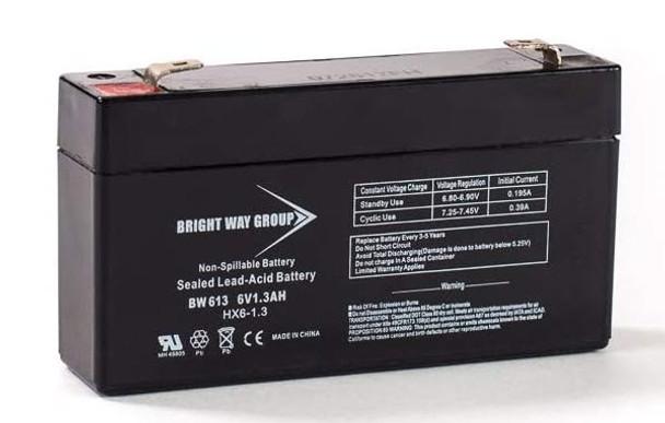 BW613 - 6 Volts 1.3Ah -Terminal F1 - SLA/AGM Battery - HX6-1.3   Battery Specialist Canada