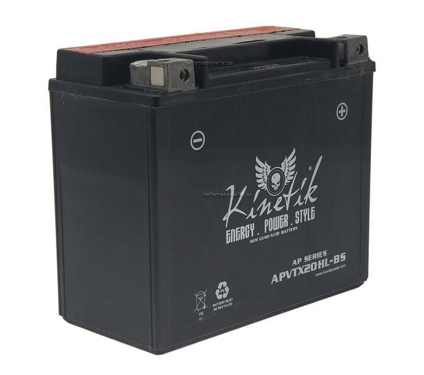 APVTX20HL-BS Kinetik VTwin Heavy Duty Battery Front  | Battery Specialist Canada