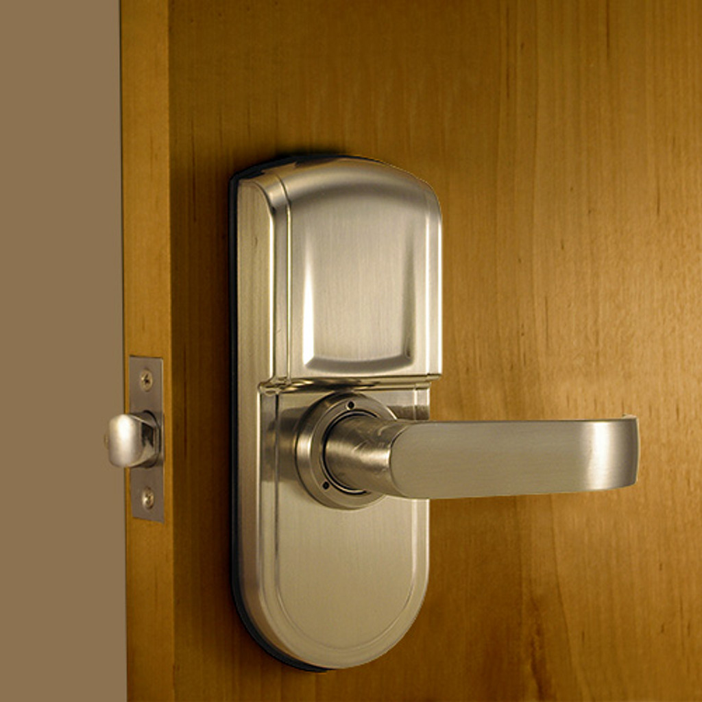 Brushed Nickel Back Lock Body