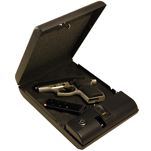 BioBox Opened Case Promoting Gun Safety